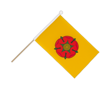 Lancashire new - Hand Waving Flag 6x9""