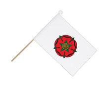 Lancashire red rose - Hand Waving Flag 6x9""