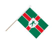 Nottinghamshire new - Hand Waving Flag 6x9""