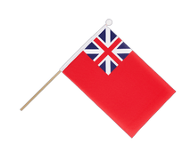 United Kingdom Red Ensign 1707-1801 - Hand Waving Flag 6x9""