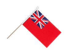 Red Ensign - Hand Waving Flag 6x9""