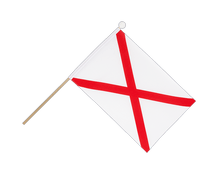 St. Patrick cross - Hand Waving Flag 6x9""