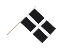 St. Piran Cornwall - Hand Waving Flag 6x9""