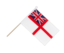 Naval Ensign of the White Squadron - Hand Waving Flag 6x9""