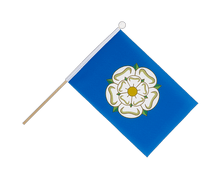 Yorkshire new - Hand Waving Flag 6x9""