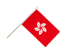 Hong Kong - Hand Waving Flag 6x9""