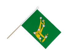 Starry Plough green 1916-1934 - Hand Waving Flag 6x9""