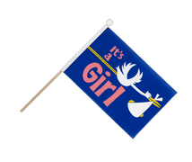 It's a girl - Hand Waving Flag 6x9""