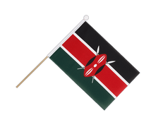 Kenya - Hand Waving Flag 6x9""