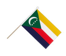 Comoros - Hand Waving Flag 6x9""