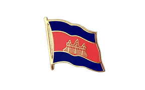 Cambodia - Flag Lapel Pin
