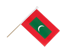 Maldives - Hand Waving Flag 6x9""