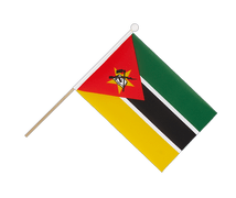 Mozambique - Hand Waving Flag 6x9""