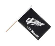 New Zealand feather all blacks - Hand Waving Flag 6x9""