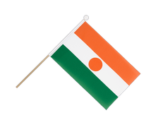 Niger - Hand Waving Flag 6x9""