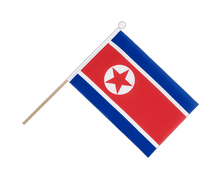 North corea - Hand Waving Flag 6x9""