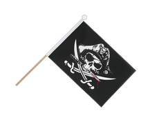 Pirate with bloody sabre - Hand Waving Flag 6x9""