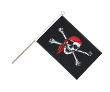 Pirate with bandana - Hand Waving Flag 6x9""