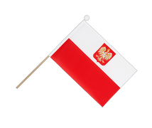 Poland with eagle - Hand Waving Flag 6x9""