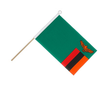 Zambia - Hand Waving Flag 6x9""