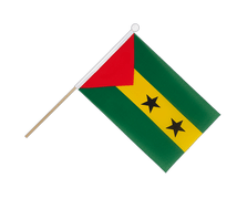 Sao Tome and Principe - Hand Waving Flag 6x9""