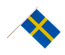 Sweden - Hand Waving Flag 6x9""