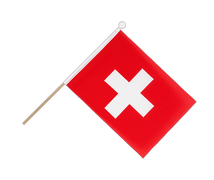 Switzerland - Hand Waving Flag 6x9""
