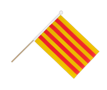 Catalonia - Hand Waving Flag 6x9""