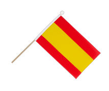 Spain without crest - Hand Waving Flag 6x9""