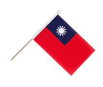 Taiwan - Hand Waving Flag 6x9""