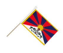 Tibet - Hand Waving Flag 6x9""
