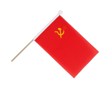 USSR Soviet Union - Hand Waving Flag 6x9""