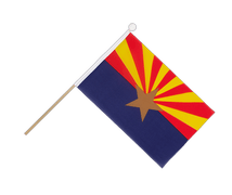 Arizona - Hand Waving Flag 6x9""