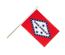 Arkansas - Hand Waving Flag 6x9""