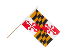 Maryland - Hand Waving Flag 6x9""