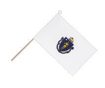 Massachusetts - Hand Waving Flag 6x9""
