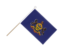 Pennsylvania - Hand Waving Flag 6x9""