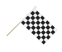 Checkered - Hand Waving Flag 6x9""