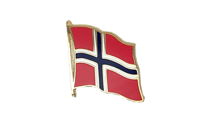 Norwegen - Flaggen Pin 2 x 2 cm