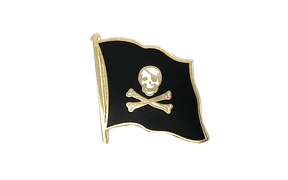 Pirate Skull and Bones - Flag Lapel Pin