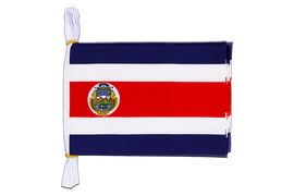 "Costa Rica - Mini Flag Bunting 6x9"", 3 m"