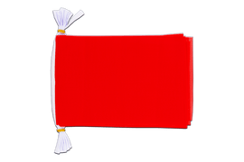Mini Guirlande fanion Unicolore Rouge - 15 x 22 cm, 3 m