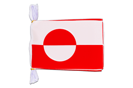 "Greenland - Mini Flag Bunting 6x9"", 3 m"