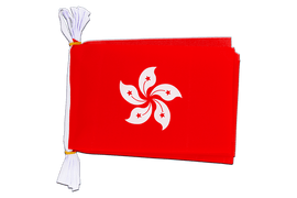 "Hong Kong - Mini Flag Bunting 6x9"", 3 m"