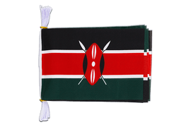 "Kenya - Mini Flag Bunting 6x9"", 3 m"
