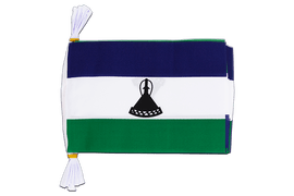 "Lesotho new - Mini Flag Bunting 6x9"", 3 m"
