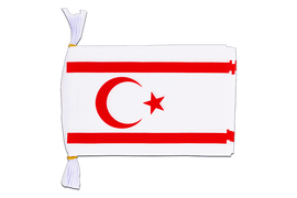 "North Cyprus - Mini Flag Bunting 6x9"", 3 m"