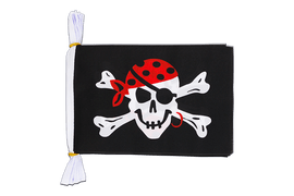 "Pirate One eyed Jack - Mini Flag Bunting 6x9"", 3 m"