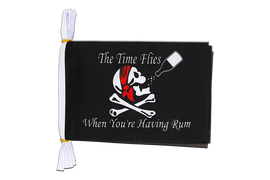 "Pirate The Time Flies When You Are Having Fun - Mini Flag Bunting 6x9"", 3 m"