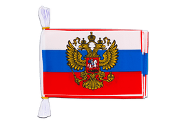 "Russia with crest - Mini Flag Bunting 6x9"", 3 m"